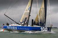 IMOCA 60, Artemis Ocean Racing, during the Sevenstar Round Britain and Ireland Race. Photo: RORC/Paul Wyeth