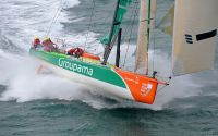 Volvo Open 70 Groupama smashed the Round Britain and Ireland Race Record. Photo: RORC/Rick Tomlinson