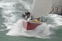 Wet ride for the British Keelboat Academy's TP52, John Merricks II. Photo: RORC/Rick Tomlinson