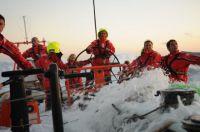 On board Groupama in the North Sea. Photo: Yann Riou/Team Groupama