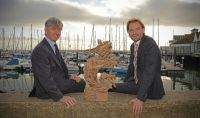 Race organiser: Royal Ocean Racing Club - CEO, Eddie Warden Owen & Director of Sevenstar Yacht Transport, Richard Klabbers