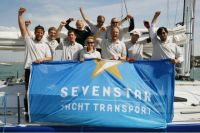 Norddeutsche Vermögen Hamburg at the finish of the Sevenstar Round Britain and Ireland Race - photo RORC/Patrick Eden