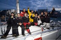 Sailing Logic's Visit Malta Puma at the finish of the Sevenstar Round Britain and Ireland Race - photo Sailing Logic/Patrick Eden