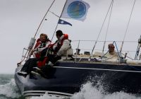 Sevenstar's Managing Director, Richard Klabbers (left) on board Winsome during the Sevenstar Round Britain and Ireland Race - photo RORC/Paul Wyeth
