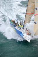 Telefonica at the start of the 2010 Sevenstar Round Britain & Ireland Race - photo RORC/Rick Tomlinson