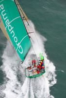Volvo Open 70 Groupama during the 2010 Sevenstar Round Britain and Ireland Race. Photo: RORC/Rick Tomlinson